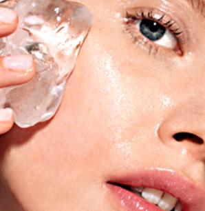уход за кожей, кубик льда для лица