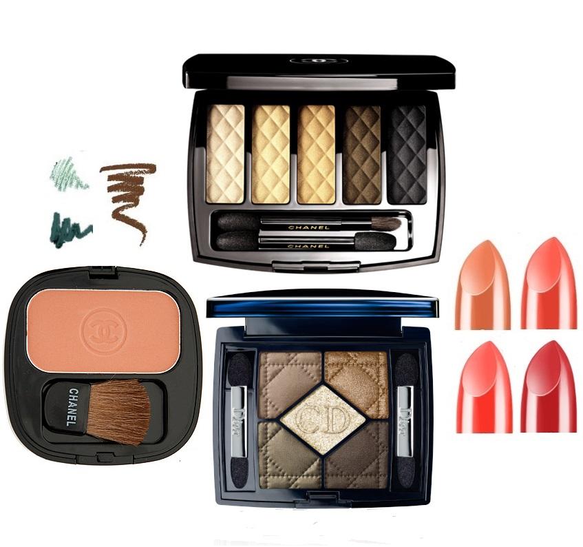 подборка макияжа, теплая гамма, макияж для цветотипа осень