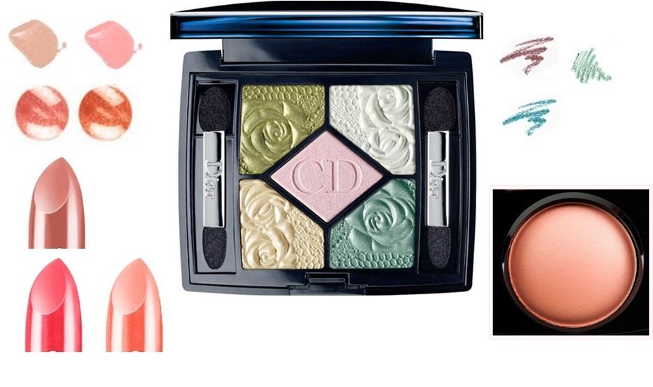 подборка цветов макияжа, сочетание цветов в макияже для цветотипа весна