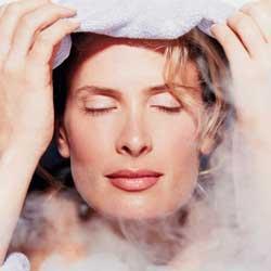 чистка лица домашний рецепт, распарить кожу, глубокое очищение лица в домашних условиях, паровая баня фото
