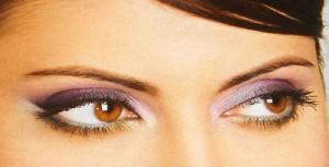макияж для карих глаз, фиолетовые тени, яркие тени, фиолетовый макияж глаз