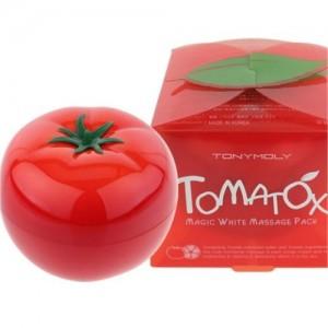Tony Moly TOMATOX Magic White Massage Pack, отбеливающая маска для лица, отзыв, выводит токсины, отбеливает, от  усталости и отеков